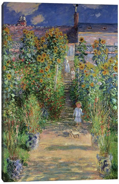 The Artist's Garden at Vetheuil, 1880  Canvas Art Print