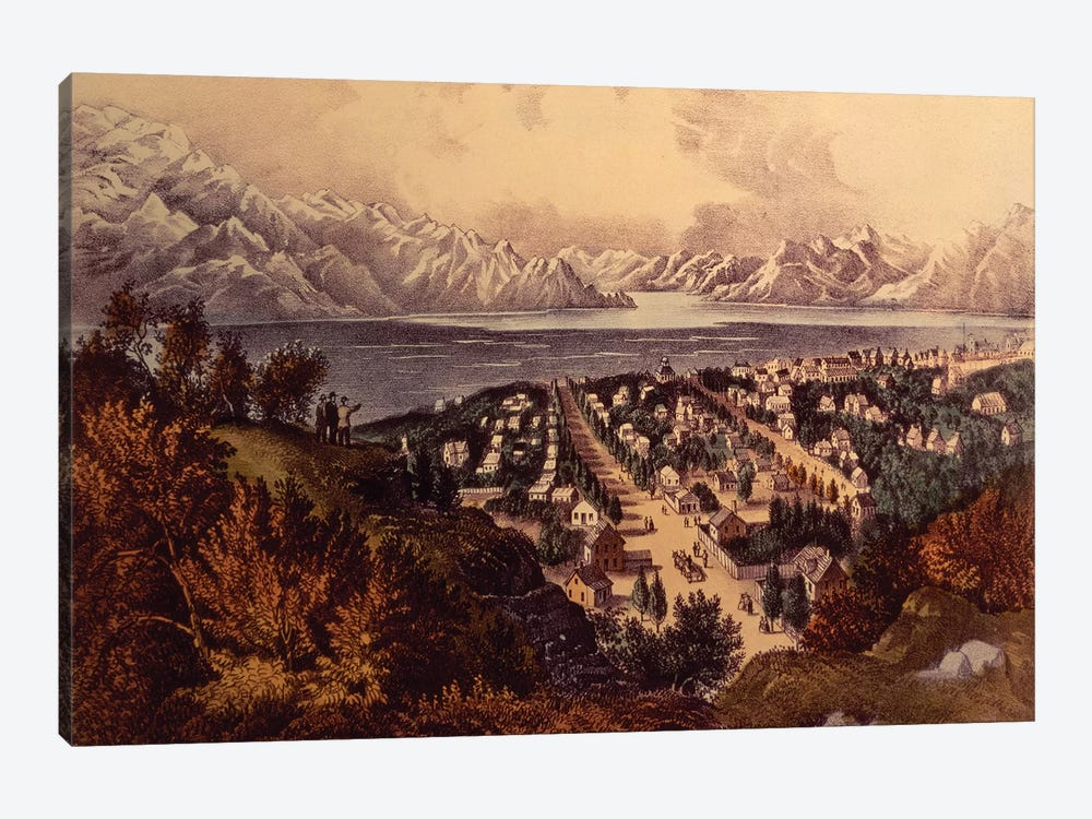Great Salt Lake, Utah by Currier & Ives 1-piece Canvas Artwork