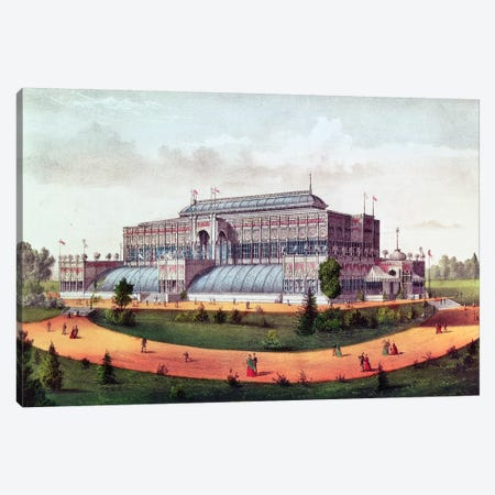 Horticultural Hall, Grand United States Centennial Exhibition, 1876 Canvas Print #BMN6913} by Currier & Ives Canvas Art Print