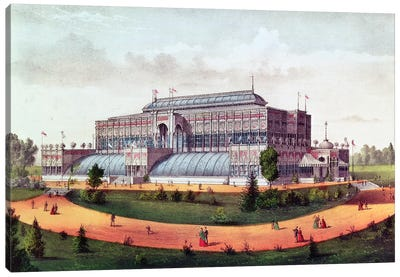 Horticultural Hall, Grand United States Centennial Exhibition, 1876 Canvas Art Print