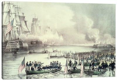 Landing Of The American Force At Vera Cruz Under General Scott, March 1847 Canvas Art Print