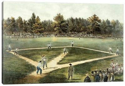 The American National Game Of Baseball - Grand Match At Elysian Fields, Hoboken, NJ, 1866 Canvas Art Print
