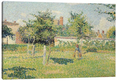 Woman in the Meadow at Eragny, Spring, 1887  Canvas Art Print