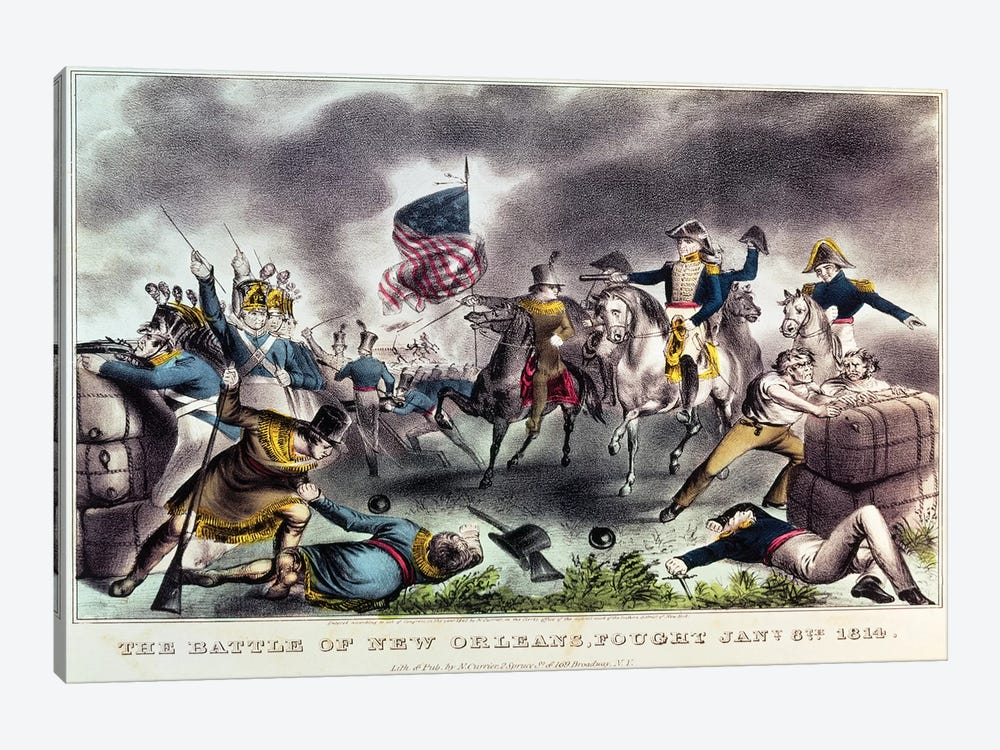 The Battle Of New Orleans, 8th January, 1814 by Currier & Ives 1-piece Art Print