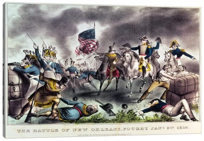 The Battle Of New Orleans, 8th January, 1814 Canvas Art Print