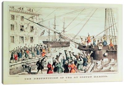 The Boston Tea Party, 1846 Canvas Art Print