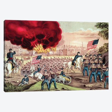 The Capture Of Atlanta By The Union Army, 2nd September, 1864 Canvas Print #BMN6924} by Currier & Ives Canvas Art Print