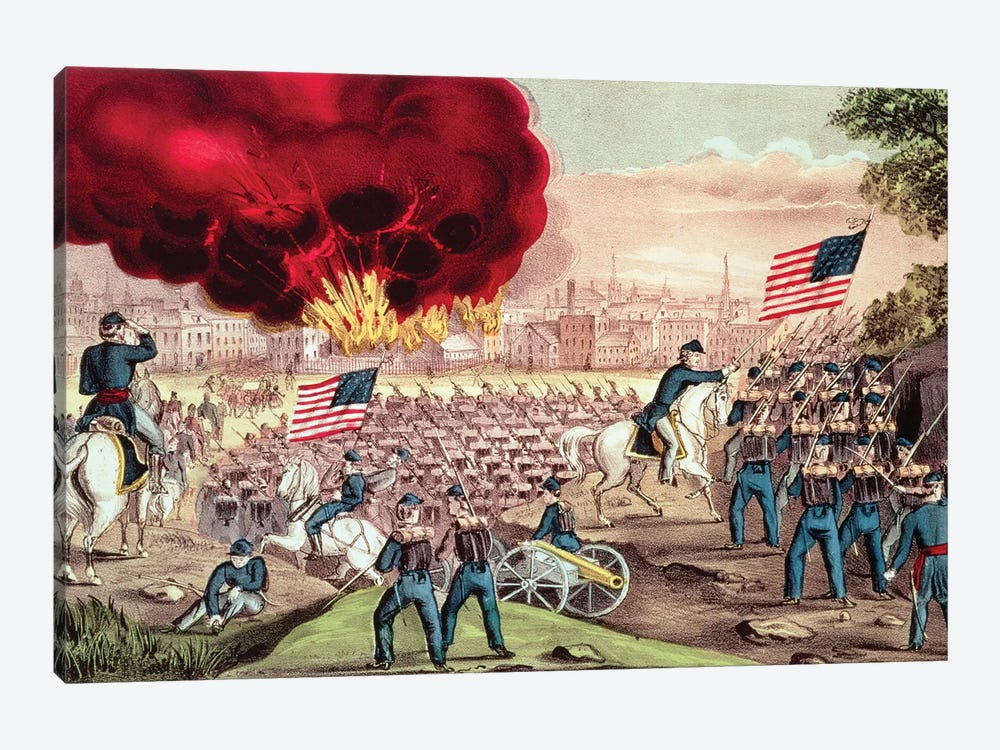 The Capture Of Atlanta By The Union Army, 2nd September, 1864 by Currier & Ives 1-piece Canvas Art Print