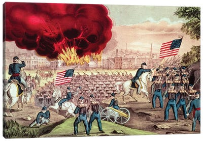 The Capture Of Atlanta By The Union Army, 2nd September, 1864 Canvas Art Print
