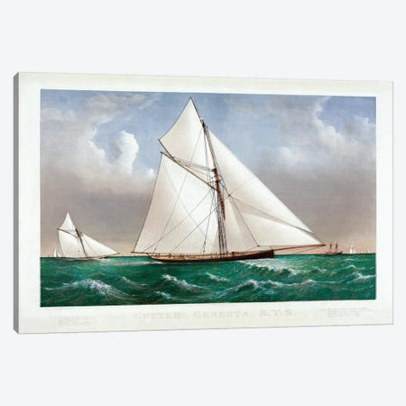 The Cutter Genesta, 1885 Canvas Print #BMN6926} by Currier & Ives Canvas Print