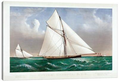 The Cutter Genesta, 1885 Canvas Art Print