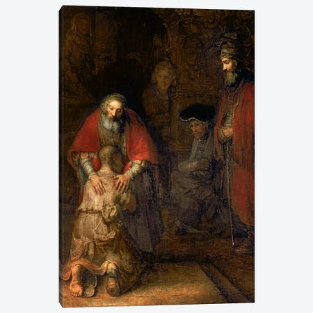 Return of the Prodigal Son, c.1668-69  Canvas Print #BMN692} by Rembrandt van Rijn Canvas Print