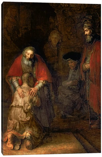 Return of the Prodigal Son, c.1668-69  Canvas Art Print