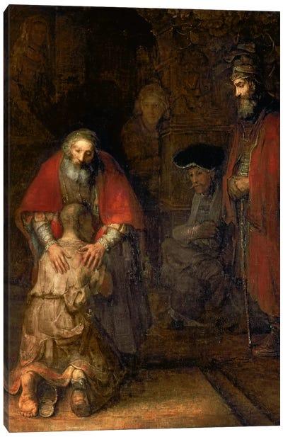 Return of the Prodigal Son, c.1668-69  Canvas Art Print