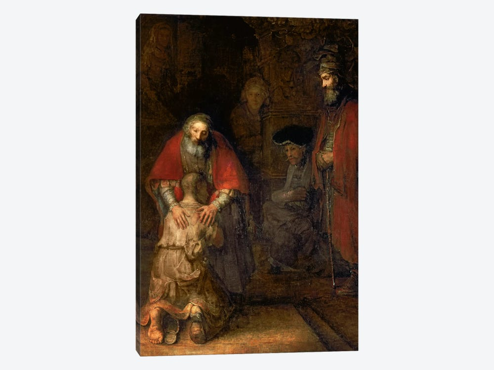 Return of the Prodigal Son, c.1668-69  by Rembrandt van Rijn 1-piece Canvas Wall Art