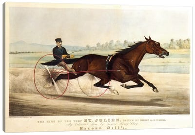 "The King Of The Turf ""St. Julien"", Driven By Orrin A. Hickok, 1880 Canvas Art Print"