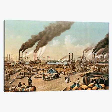 The Levee - New Orleans, 1884 Canvas Print #BMN6932} by Currier & Ives Art Print