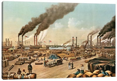The Levee - New Orleans, 1884 Canvas Art Print