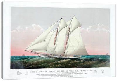 The Schooner Magic Of The New York Yacht Club, 1870 Canvas Art Print