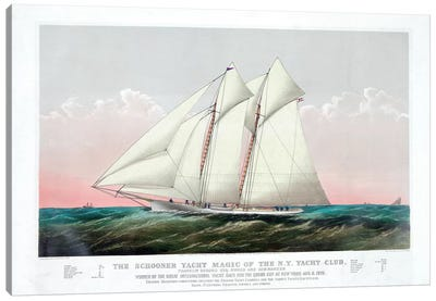The Schooner Magic Of The New York Yacht Club, 1870 Canvas Art Print