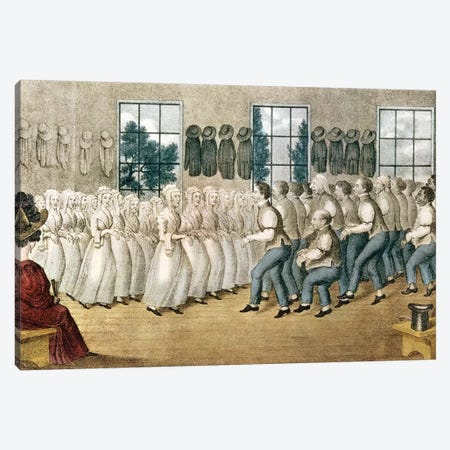 The Shakers Near Lebanon Canvas Print #BMN6936} by Currier & Ives Canvas Artwork