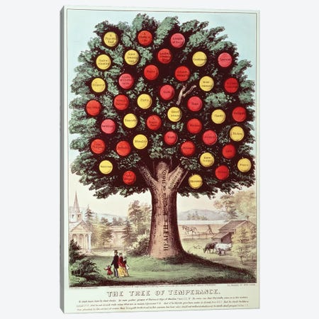 The Tree Of Temperance, 1872 Canvas Print #BMN6937} by Currier & Ives Canvas Art