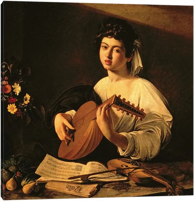 The Lute Player, c.1595  Canvas Art Print