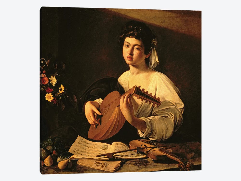 The Lute Player, c.1595  by Michelangelo Merisi da Caravaggio 1-piece Canvas Art Print