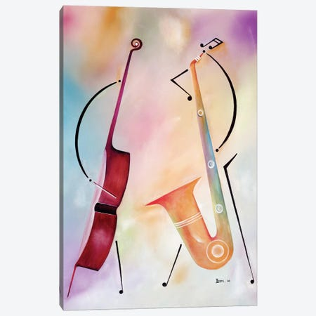 Bass And Sax Canvas Print #BMN6945} by Ikahl Beckford Canvas Art Print