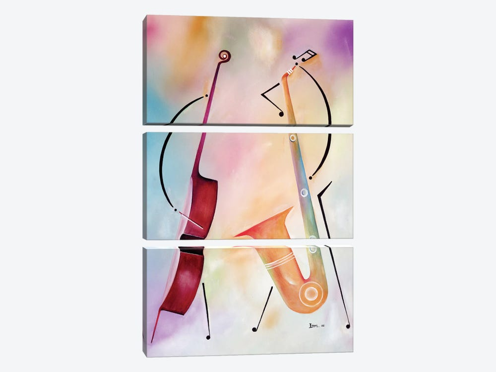 Bass And Sax by Ikahl Beckford 3-piece Canvas Artwork