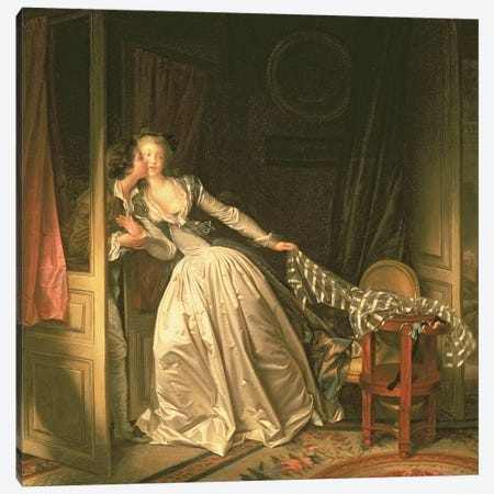 The Stolen Kiss, c.1788 3-Piece Canvas #BMN694} by Jean-Honore Fragonard Canvas Art