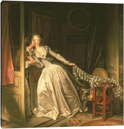 The Stolen Kiss, c.1788 Canvas Art Print
