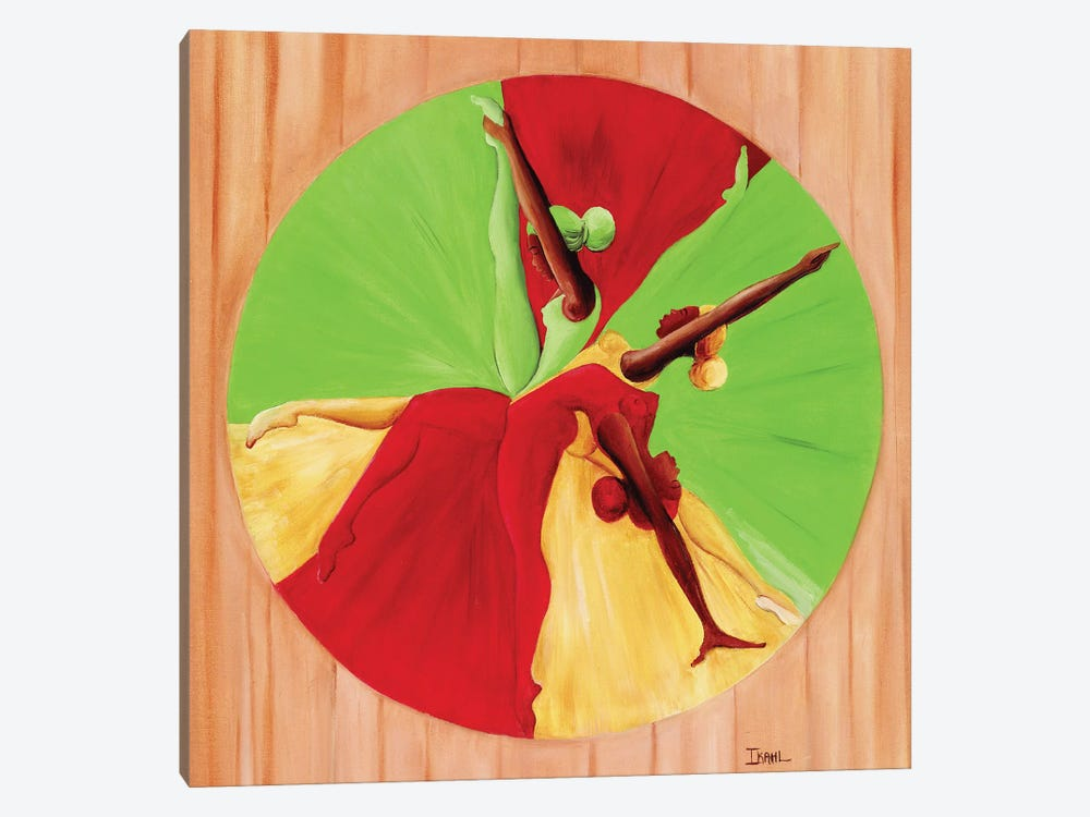 Dance Circle by Ikahl Beckford 1-piece Canvas Artwork