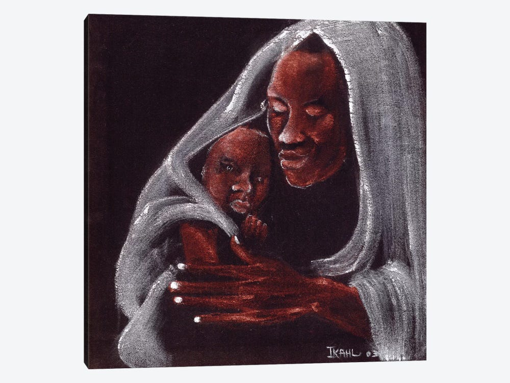 Father And Son by Ikahl Beckford 1-piece Canvas Art