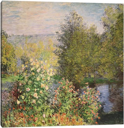A Corner of the Garden at Montgeron, 1876-7  Canvas Art Print
