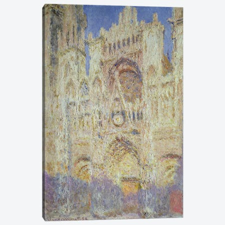 Rouen Cathedral at Sunset, 1894 Canvas Print #BMN696} by Claude Monet Canvas Wall Art