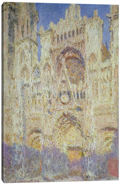 Rouen Cathedral at Sunset, 1894 Canvas Print #BMN696