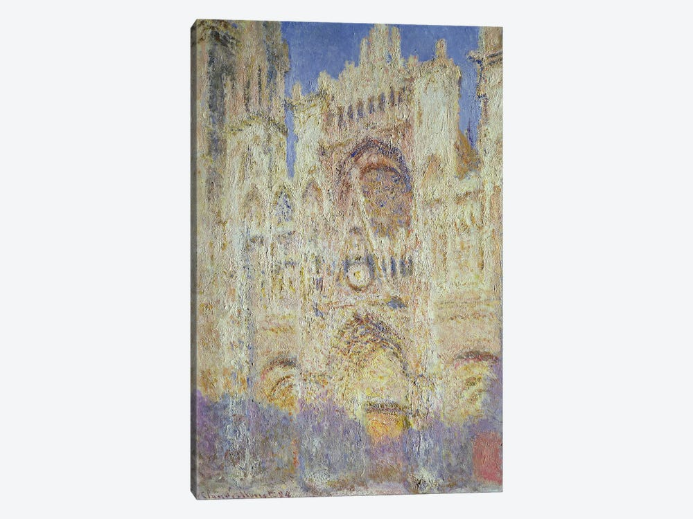 Rouen Cathedral at Sunset, 1894 by Claude Monet 1-piece Canvas Wall Art