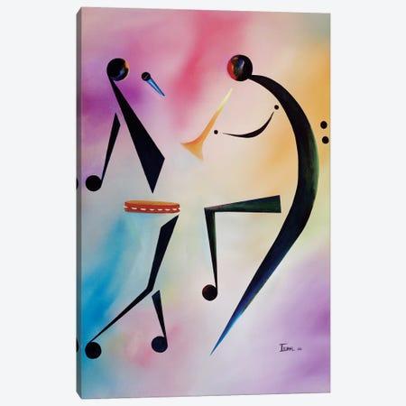 Tambourine Jam Canvas Print #BMN6970} by Ikahl Beckford Art Print