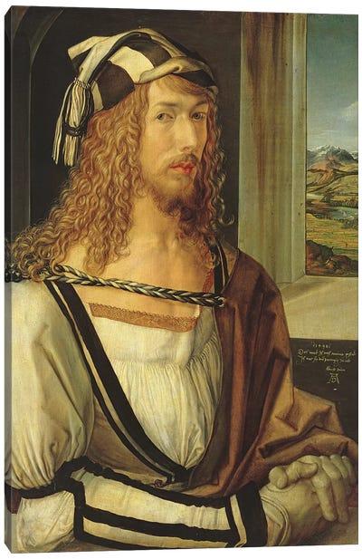 Self Portrait With Gloves, 1498 Canvas Art Print