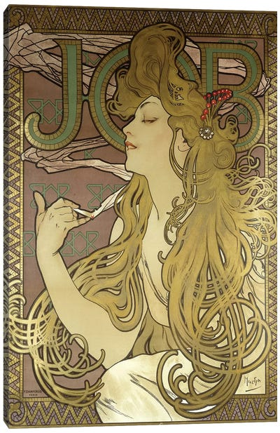 JOB Rolling Papers Advertisement, 1896 Canvas Art Print