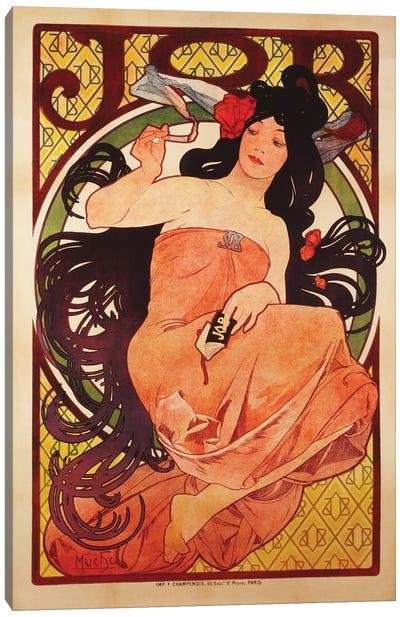 JOB Rolling Papers Advertisement, 1898 Canvas Art Print