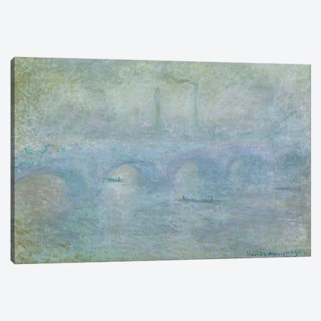Waterloo Bridge: Effect of the Mist, 1903 Canvas Print #BMN697} by Claude Monet Canvas Artwork