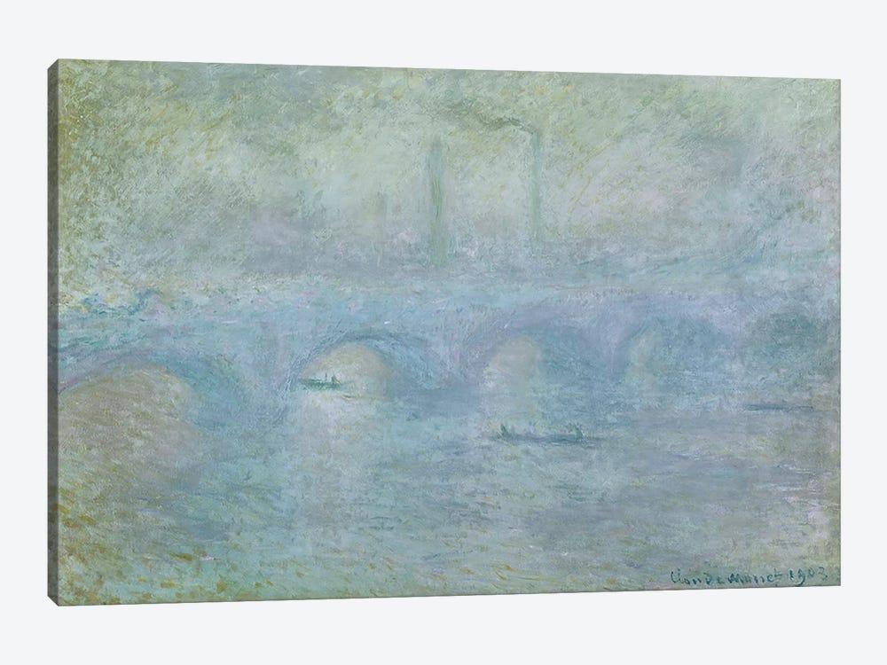 Waterloo Bridge: Effect of the Mist, 1903 by Claude Monet 1-piece Canvas Art Print