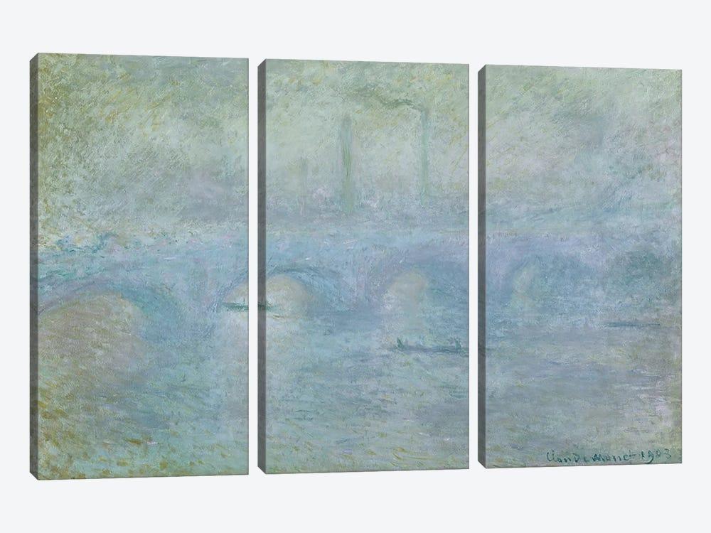 Waterloo Bridge: Effect of the Mist, 1903 by Claude Monet 3-piece Art Print