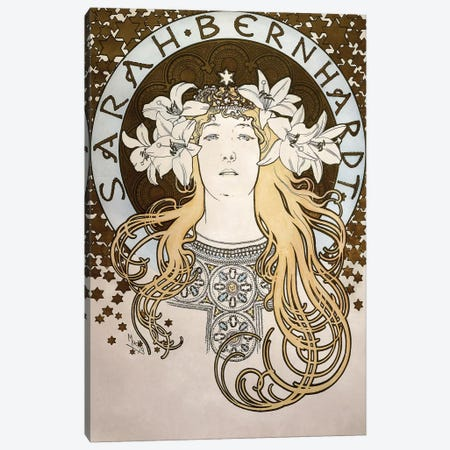 Sarah Bernhardt As La Princesse Lointaine (From La Plume Magazine), 1896 Canvas Print #BMN6980} by Alphonse Mucha Canvas Art