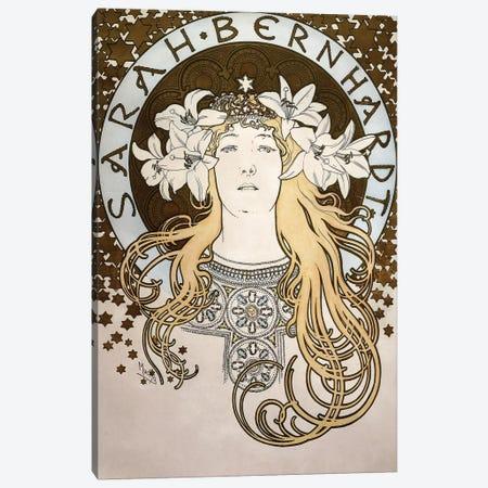 Sarah Bernhardt As La Princesse Lointaine (From La Plume Magazine), 1896 Canvas Print #BMN6980} by Alphonse Mucha Canvas Art