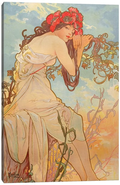 The Seasons: Summer, 1896 Canvas Art Print