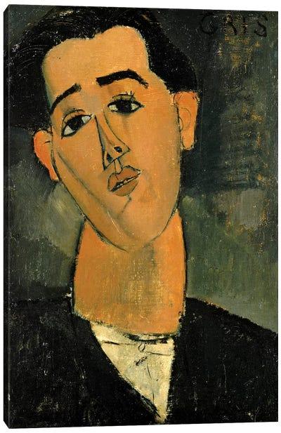 Portrait Of Juan Gris, 1915 Canvas Art Print