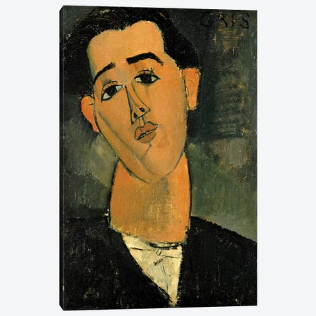 Portrait Of Juan Gris, 1915 Canvas Print #BMN6985} by Amedeo Modigliani Canvas Print